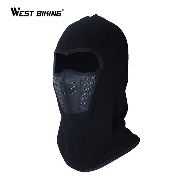 WEST BIKING Winter Cycling Face Mask Dust-proof Windproof Warmer Fleece Neck Bicycle Snowboard Ski Full Face Scarf MTB Bike Mask