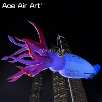 brand new portable horrible Inflatable King squid replica hanging to the ceiling