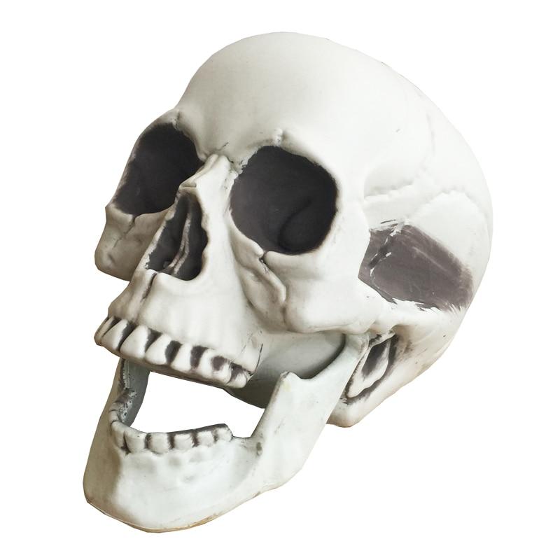 हैलोवीन कंकाल खोपड़ी, हैलोवीन खोपड़ी हड्डियों जीवन आकार 160 खोपड़ी प्रेतवाधित घर भागने डरावनी सहारा सजावट