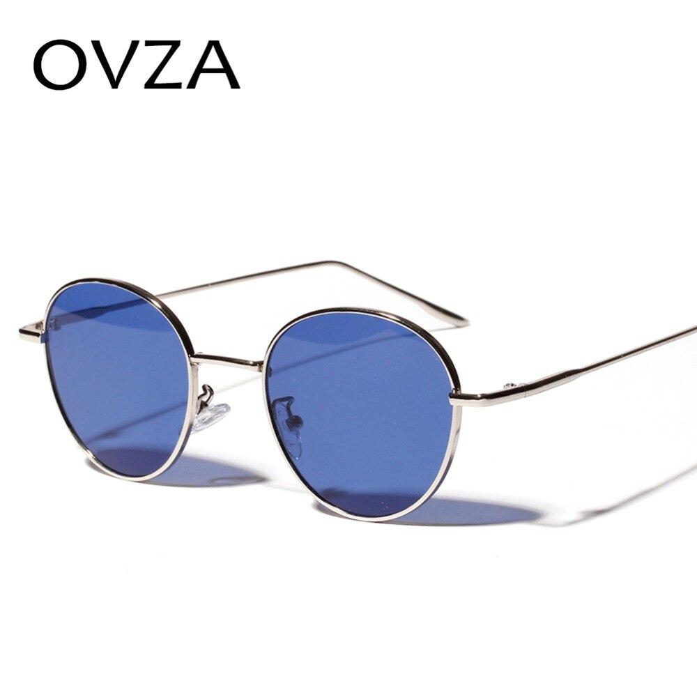 8aa750b6e57dfc OVZA Ovale Punk lunettes de Soleil Hommes Classique Rétro Vintage lunettes  de Soleil Femme Bleu Lunettes