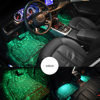 Hot Car Atmospheres Lamp LED Interior Foot Light Ambient USB Decoration Sound Control JLD