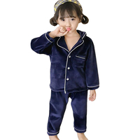 Baby Boy Girl Pajamas Sets Kids Winter Overalls Costume Sleepwear Pajama Suits Children Home Clothes Baby