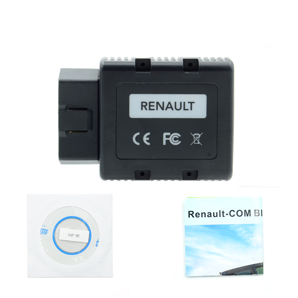 цена на 2pcs 2018 Arrial For Renault-COM For Renault Com Bluetooth Diagnostic and Programming Scan for Replacement for Renault Can Clip
