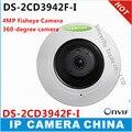 360 Graus 4.0MP Câmera de rede 1080 P Câmera IP Fisheye Panorâmica Vista Quad 8 m IR Câmera de CCTV PoE DS-2CD3942F-I