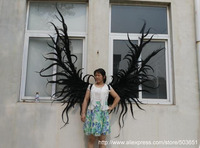 large size black Devil angel wings Cosplay costume Bar decorations supplies photo shooting props EMS Free shipping