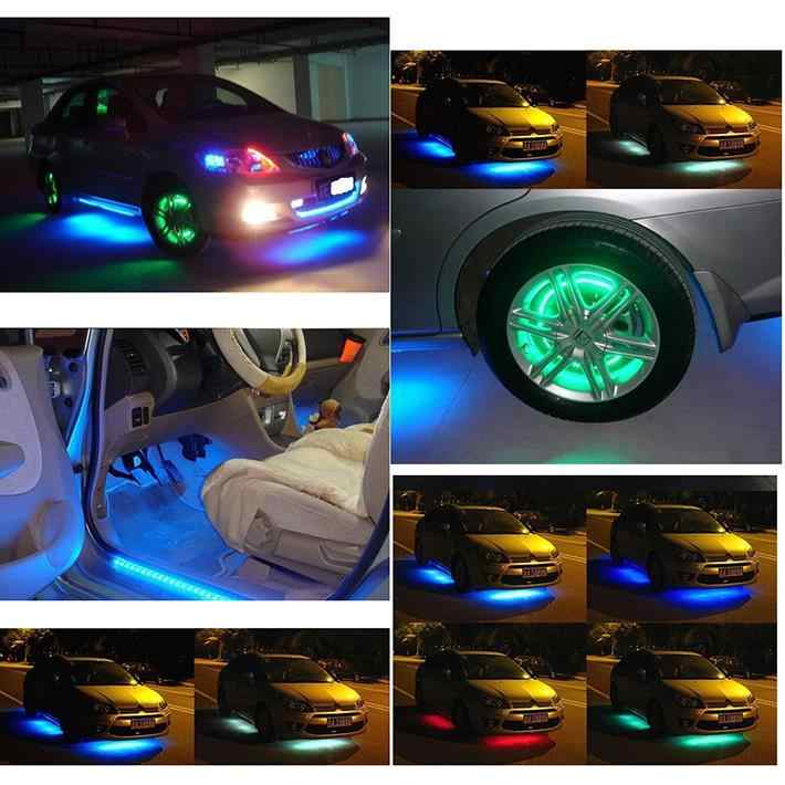 1Pcs 24cm 12V CD548 LED Universal Car Daytime Running Light Waterproof Flexible White LED DRL Strip Tail Stop Brake Fog Lamp