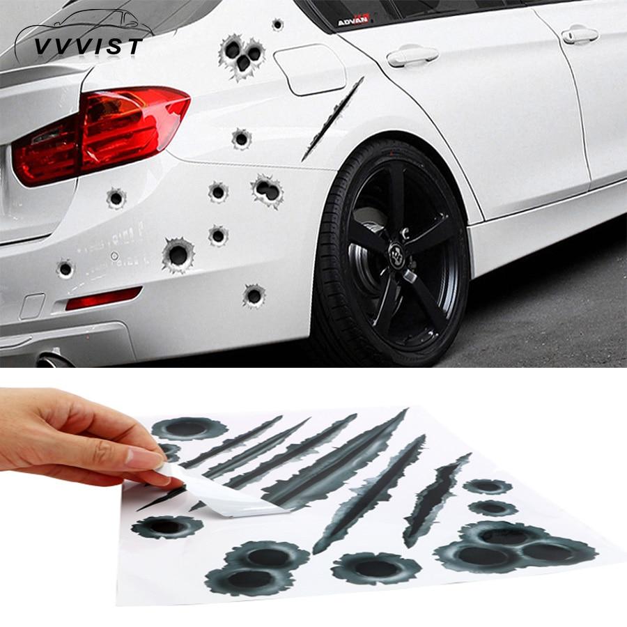 Creative 3D Bullet Holes Vinyl Sticker Graphic Decal Car Stickers Waterproof
