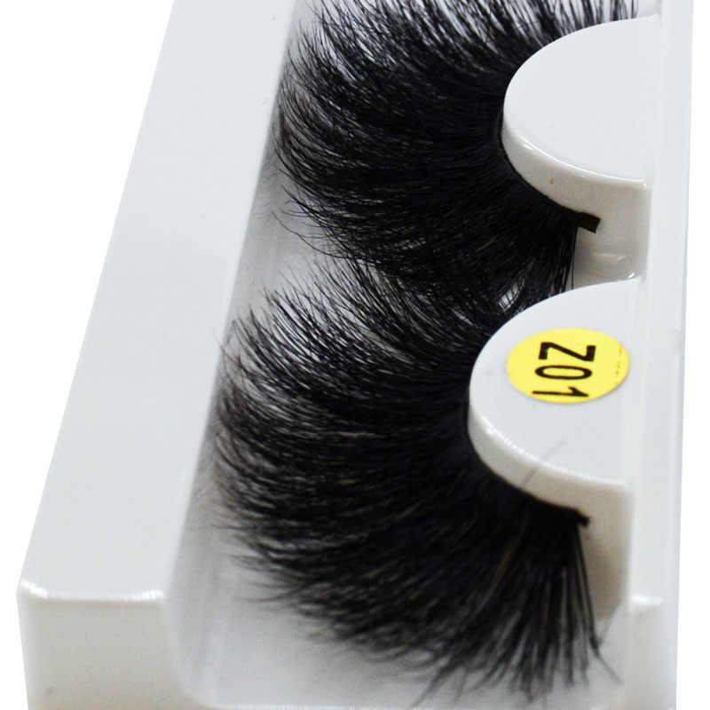 Длинные волосы 25 мм ресницы 3D норковые ресницы макияж ручная работа полная полоска норковых ресниц мягкие пушистые ресницы полный объем ресниц