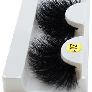 Image 2 - long hair 25mm Lashes Eyelashes 3D Mink Lashes Makeup Handmade Full Strip Mink Eyelashes Soft Fluffy Eyelashes Full Volume lash