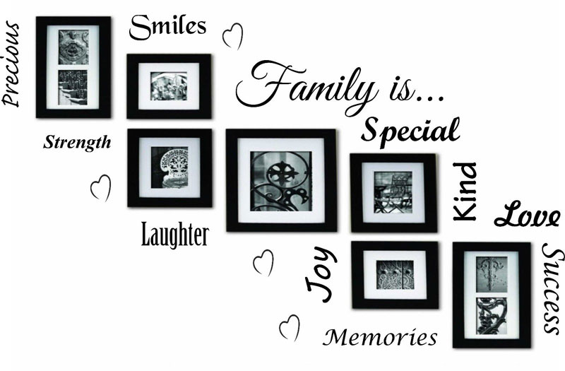 Word Wall Art Vinyl Lettering Home Decor ~ Family is word cloud quote vinyl wall art sticker mural