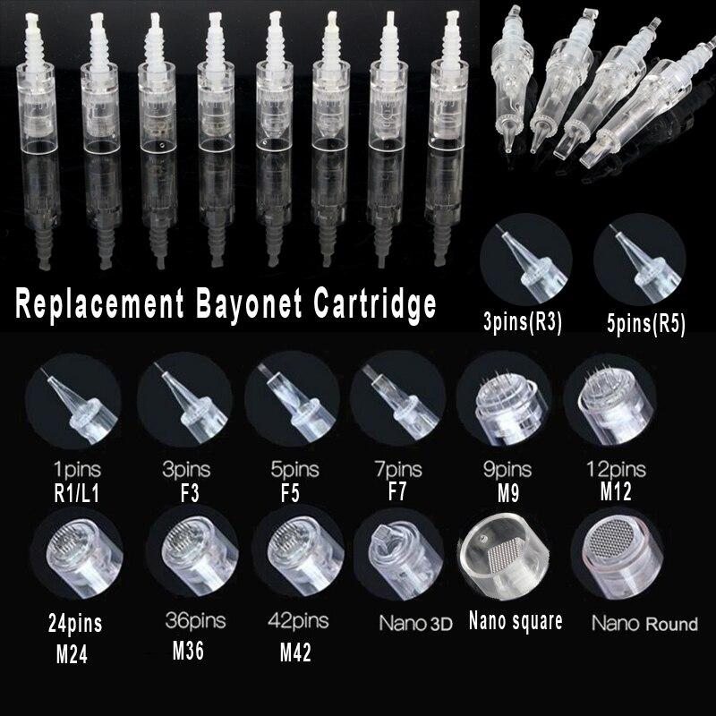 Bayonet Cartridge Replacement For Derma Pen Micro Needle 1/3/5/7/ 9 Pin / 12 Pin / 24 Pin / 36 Pin 42 / Nano Mym/N2/M7/M5 Needle