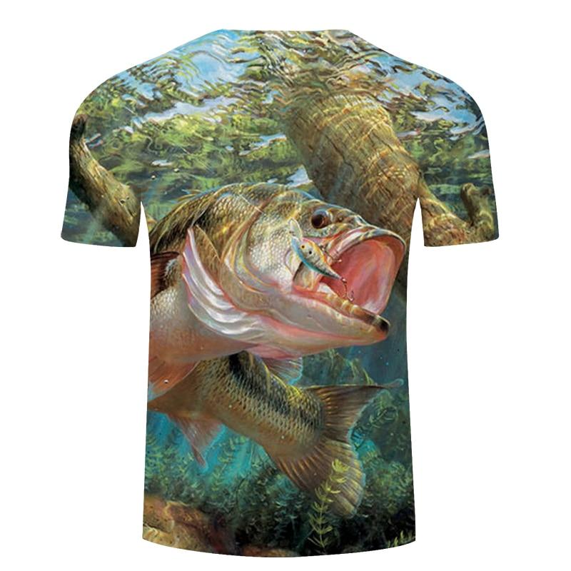 Новая футболка для рыбалки, стильная повседневная футболка с цифровым 3D принтом рыбы, мужская и женская футболка, летняя футболка с коротким рукавом и круглым вырезом, Топы И Футболки S-6XL