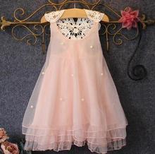 Girl Dress Children 2016 Brand Summer Princess Dress Girls Clothes Bow Print Pattern Toddler Girls Dresses Kids Clothes Pint