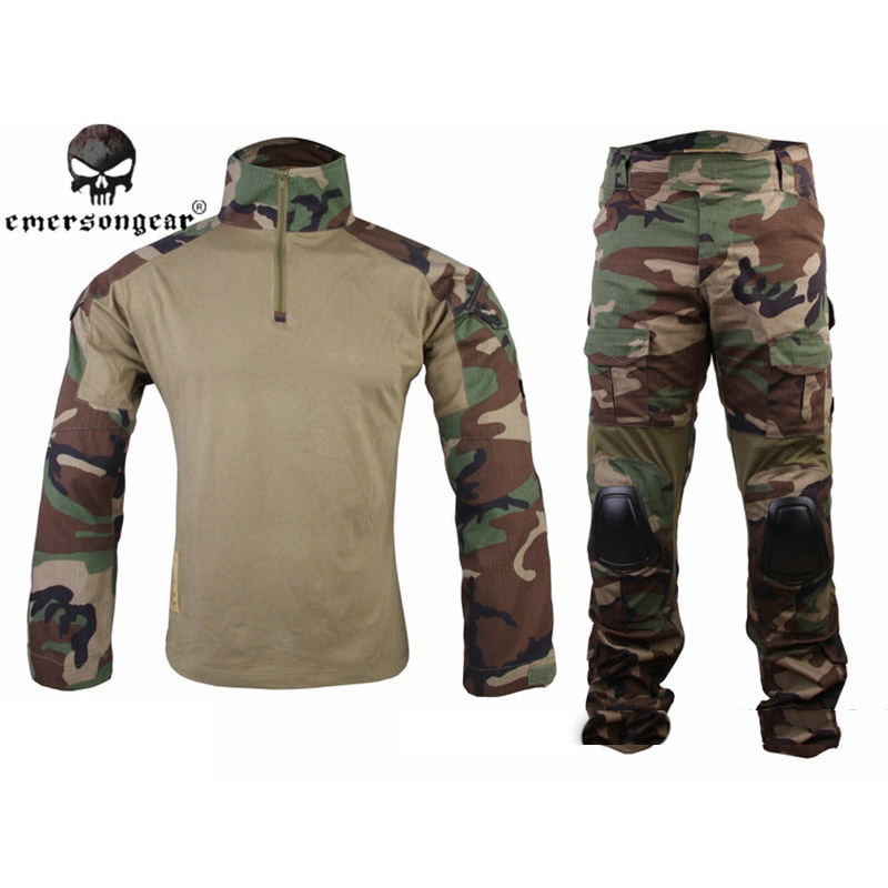 Stand Collar Shirt Long Pants Gen2 BDU Tactical Army Training Uniform Set Military Combat Clothing Camouflage Hunting Clothes man cs training outdoor camouflage uniform combat bdu suit tactical army jacket hunting multi pocket trouser wear resisting s20n