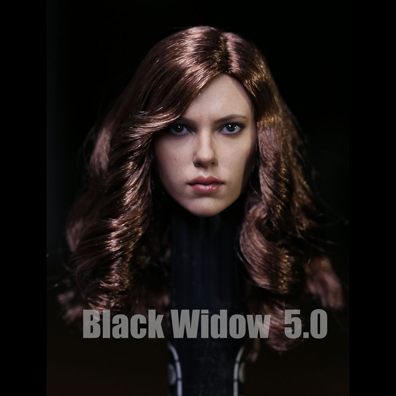 New 1/6 Soldier Black Widow 5.0 Scarlett Female Head Carving Non-HT HOTTOYS For 12 Action Figure Collection Toys Accessories фигурка planet of the apes action figure classic gorilla soldier 2 pack 18 см