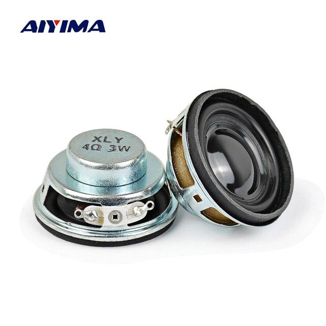 AIYIMA 2 piezas 40 MM de Audio portátil altavoz de 1,5 pulgadas de alta fidelidad 4Ohm 3 W altavoz de gama completa para Bluetooth altavoz DIY