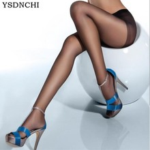 YSDNCHI nueva Alta elástico negro Medias pantimedias para dama Sexy piernas seda antienganches Collant Medias chica Pantys