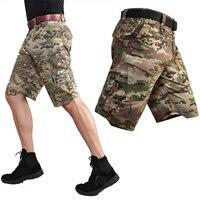 2019 New Hiking Shorts Men Multi Pocket Short Tactics Outdoor Climbing Training Military Tactical Short Cargo Tourism Trousers