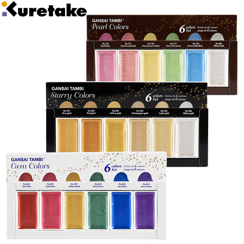 6 Colors Soild Watercolor Paint Set Colors Solid Water Color Starry Pearl Gold Painting for Fabric Drawing Pigment Art Supplies цена