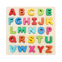 Baby Wooden Montessori Toys Educational Preschool Pedagogical Alphabet Wood Board Developing Toys For Children