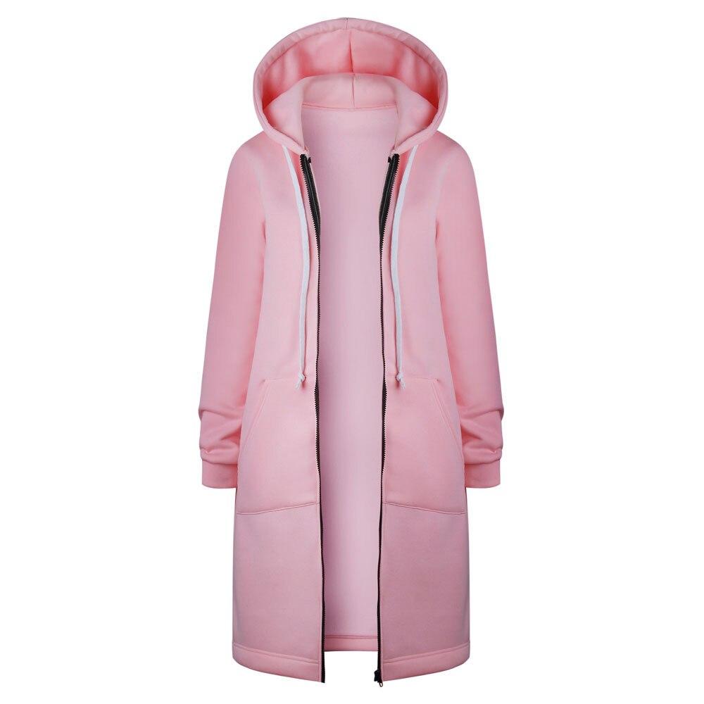 Stylish Bar Plus Size S 5XL Women Zip Up Hooded Jacket Long Sleeve Pockets Hoodies Causal Innrech Market.com