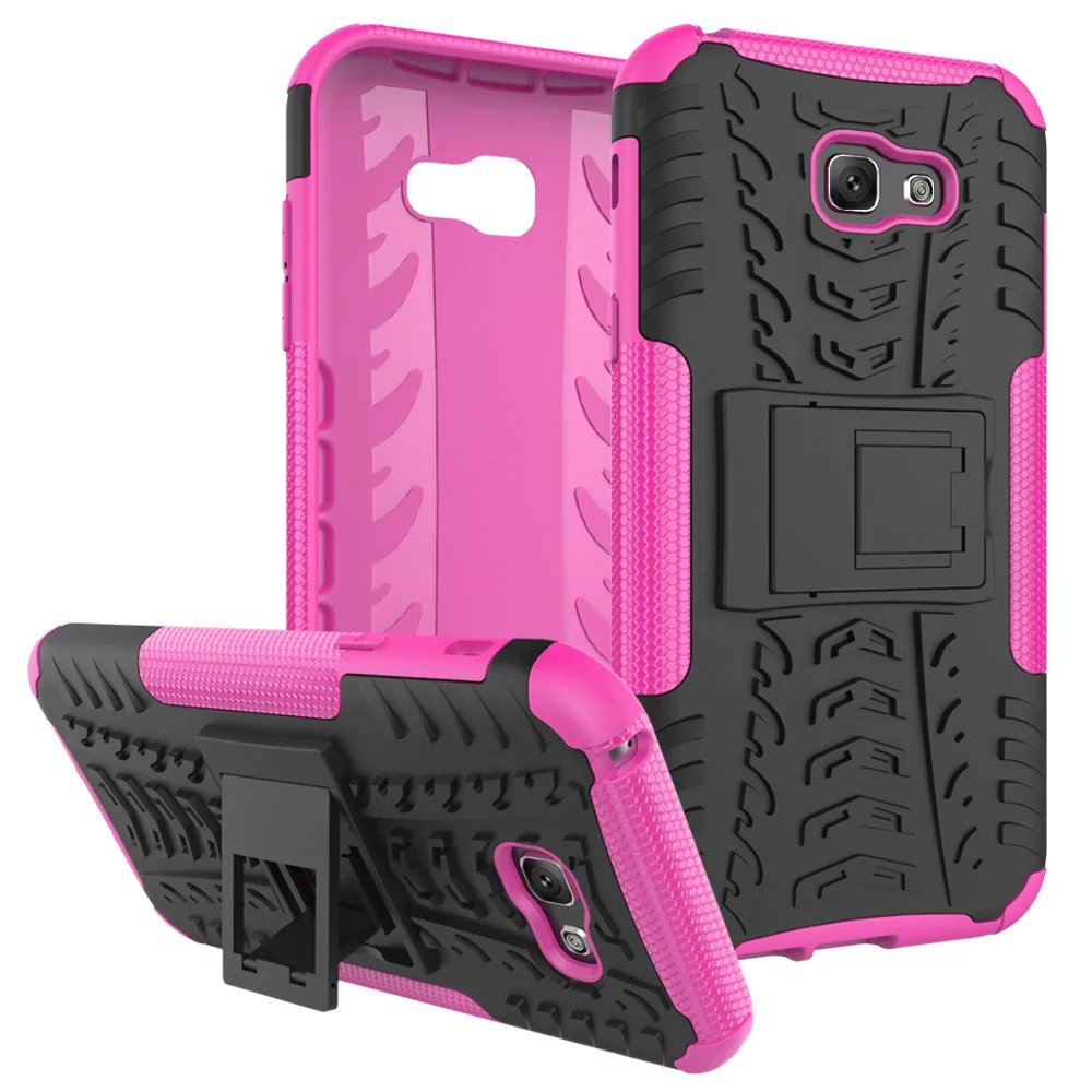 Charming For Samsung Galaxy A7 2017 Case Heavy Rugged TPU+PC Armor Shockproof Kick  Stand Cover