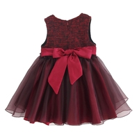 Autumn Winter Baby Girls Vest Dress Warm Baby Plus Velvet Bow Dress Lace Sleeveless Infant Winter Princess Dresses Fashion New