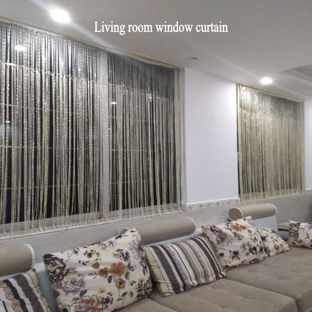 3x2.6 m Tenda Della Stringa Nappa Lucida Linea Tende per Porte E Finestre Divisore Drappo Living Room Decor Mantovana