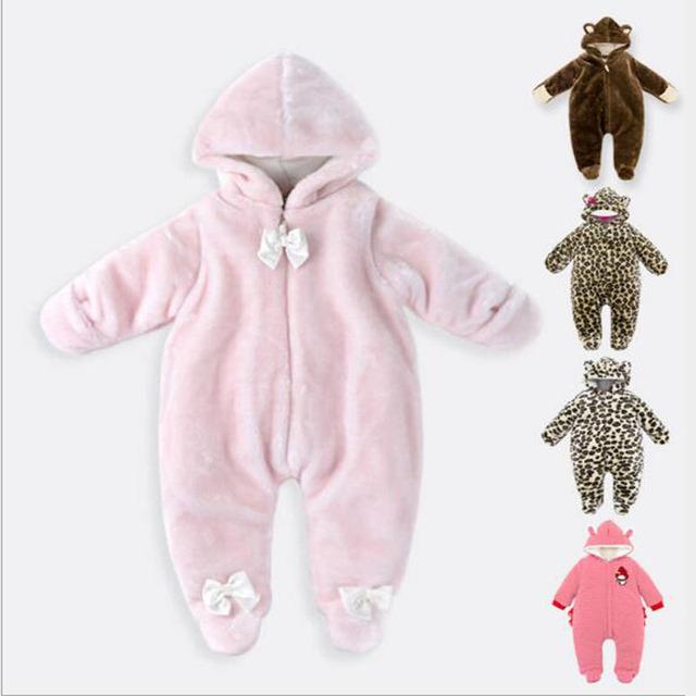 Unisex Bonito inteligente Baby Rompers Inverno Engrossar a Roupa Do Bebê para Romper Do Bebê Recém-nascido motoniveladora Uma alta qualidade a roupa do bebê 0-9 M