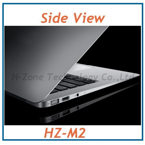 13.3 Inch Ultra Thin Metal Aluminum Alloy Laptop With Intel Celeron Dual Core 1.8Ghz CPU 4GB RAM 128GB SSD WIFI Webcam 4200mAh