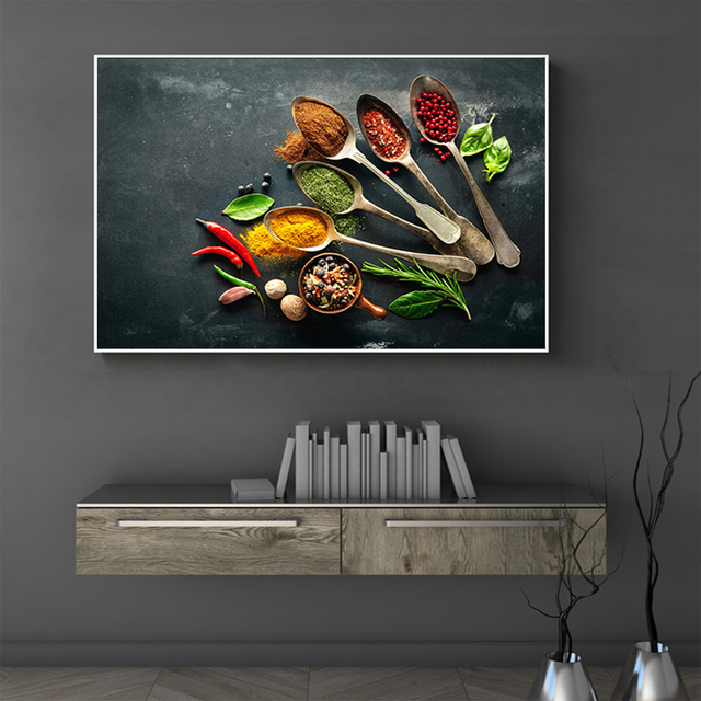 Exceptionnel Modern Kitchen Wall Art Canvas Painting Seasoning Picture Print On Canvas  Posters And Prints Wall Pictures For Dining Room Decor