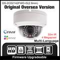 Câmera ip hikvision ds-2cd2142fwd-is 2.8mm original versão ultramarino 4mp câmera de cctv onvif p2p câmera de segurança poe ipc h265 hik