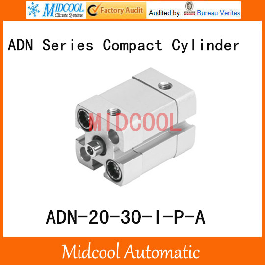 ADN-20-30-I-P-A Compact Pneumatic Cylinder Double Acting FESTO Type high quality double acting pneumatic gripper mhy2 25d smc type 180 degree angular style air cylinder aluminium clamps