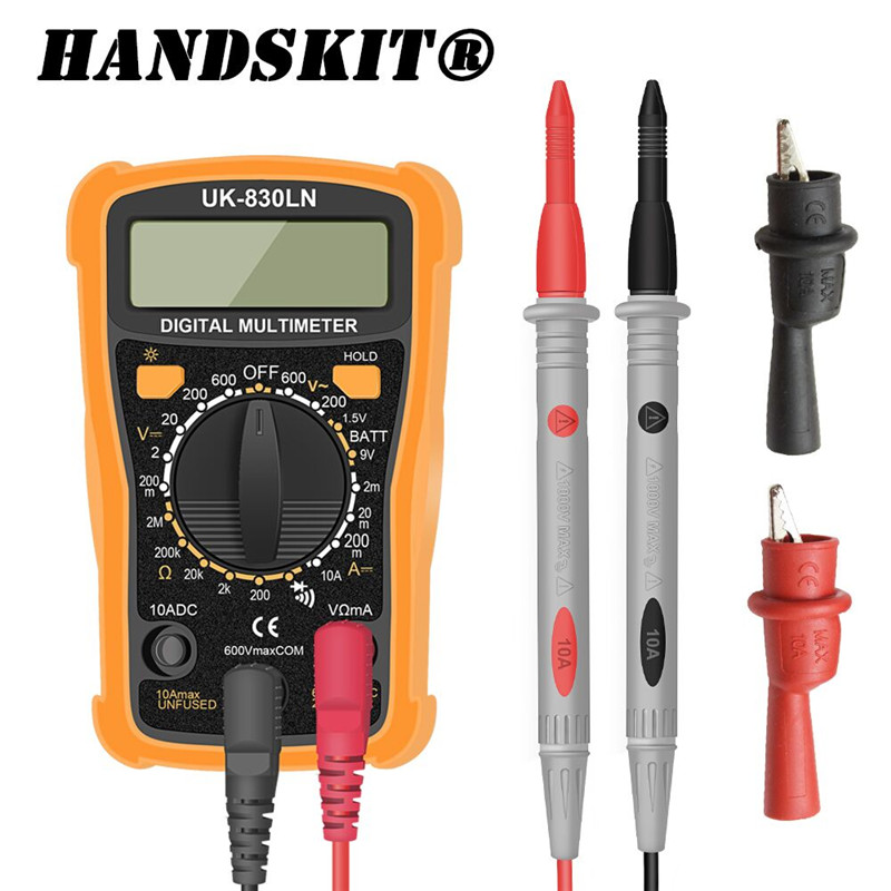 Handskit Digital Multimeter Portable AC/DC Voltage Meter Professional Tester Multimeter Electrical Instrumentation Free Shipping