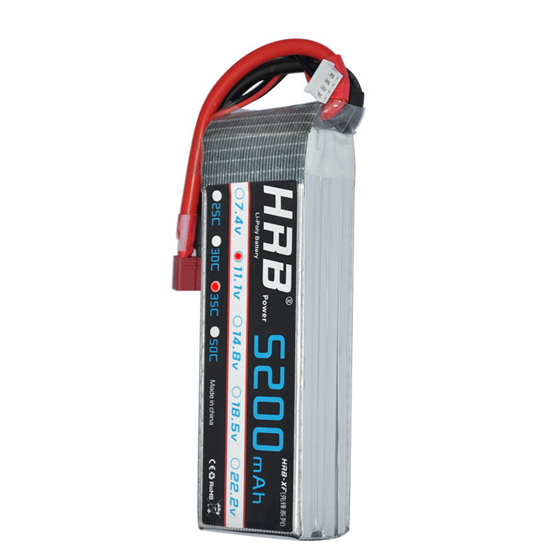 HRB Lipo Battery 11 1V 5200mAh 35C For Helicopters font b RC b font Lipo Battery