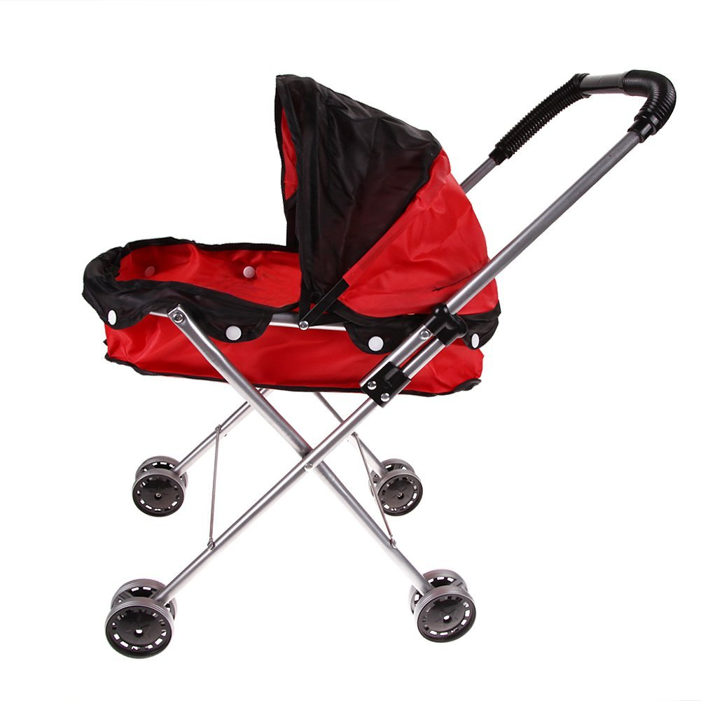 Toy driven wheelbarrow Folding type tool Shopping strollers Still playing Playing over 3 years old (black and red)