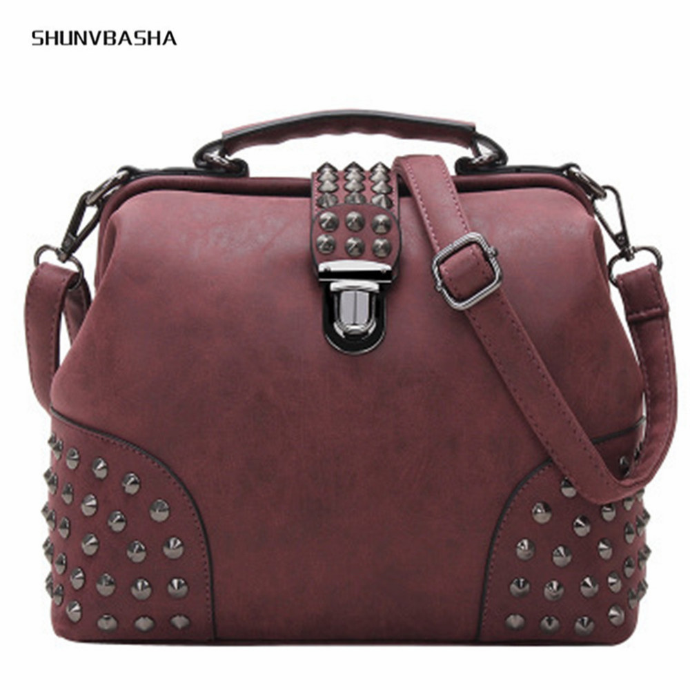 Rivet Women Handbag Punk Messenger Bags Large Capacity CrossBody BagPacks European and American Handbags