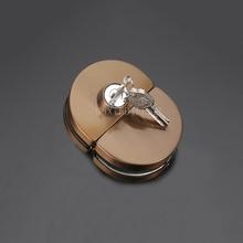 1PCS Rose Gold Double Door Frameless Sliding Central Glass Door Lock 304 Stainless Steel Bidirectional Unlock JF1866 все цены