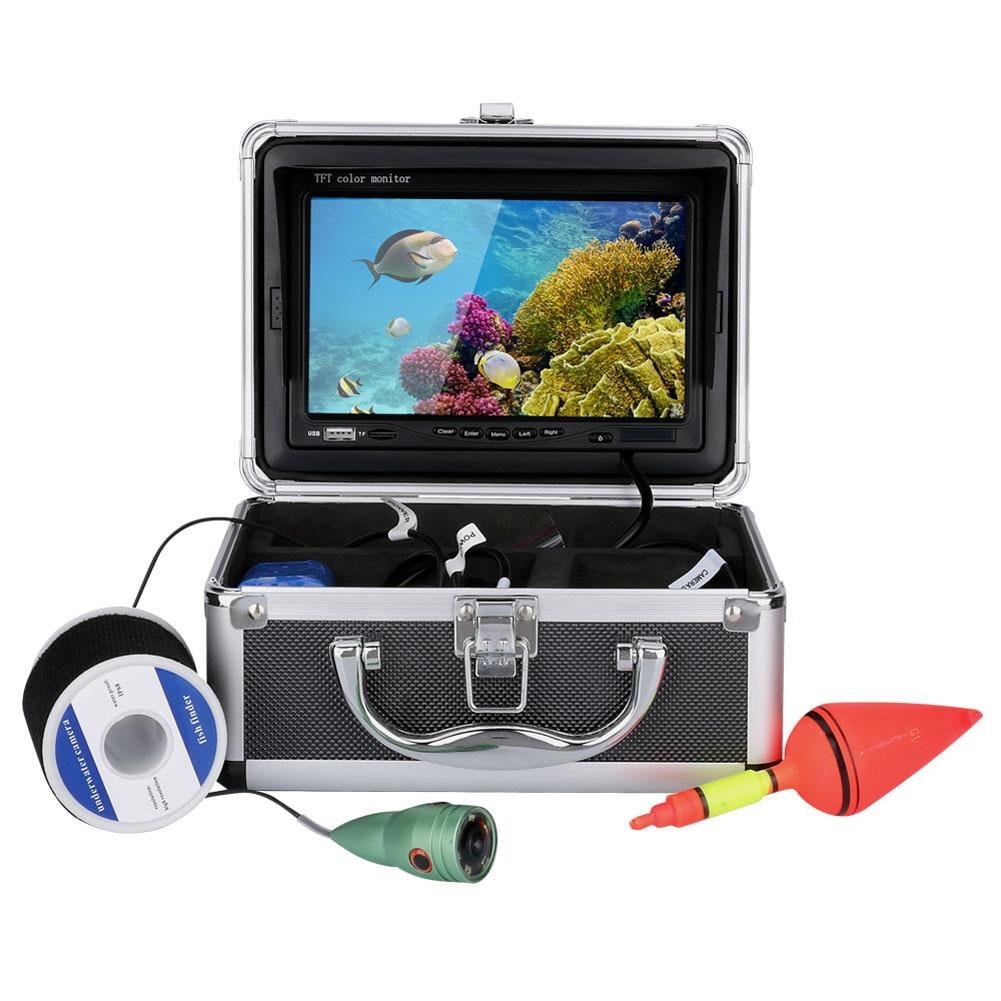 7 цветов цифровой ЖК дисплей 1000tvl эхолот HD DVR Регистраторы Водонепроницаемый Рыбалка Подводные камеры для рыбы finder Портативный 30 м