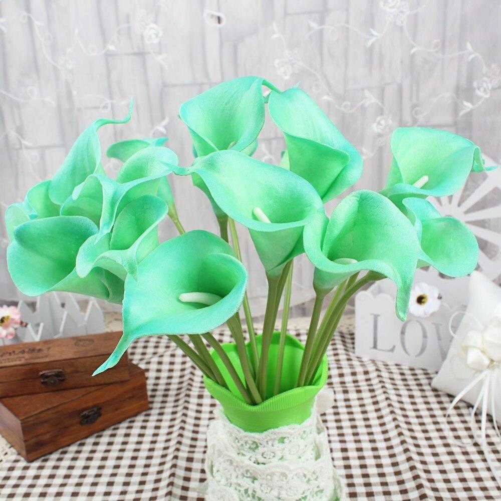 2 unids Flores Decorativas Flores Artificiales de La Boda del Lirio de Cala Real