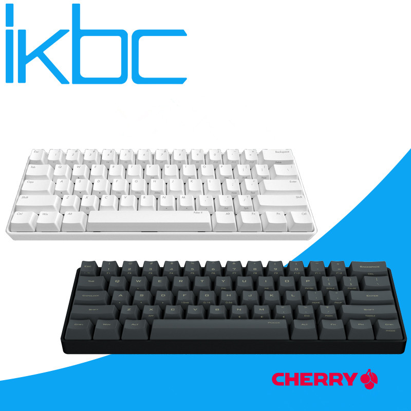 IKBC POKER MINI 60% black mechanical keyboard compact cherry mx brown switch gaming keyboard PBT keycap detachable cable vortex gigabyte keyboard gigabyte osmium cherry mx brown