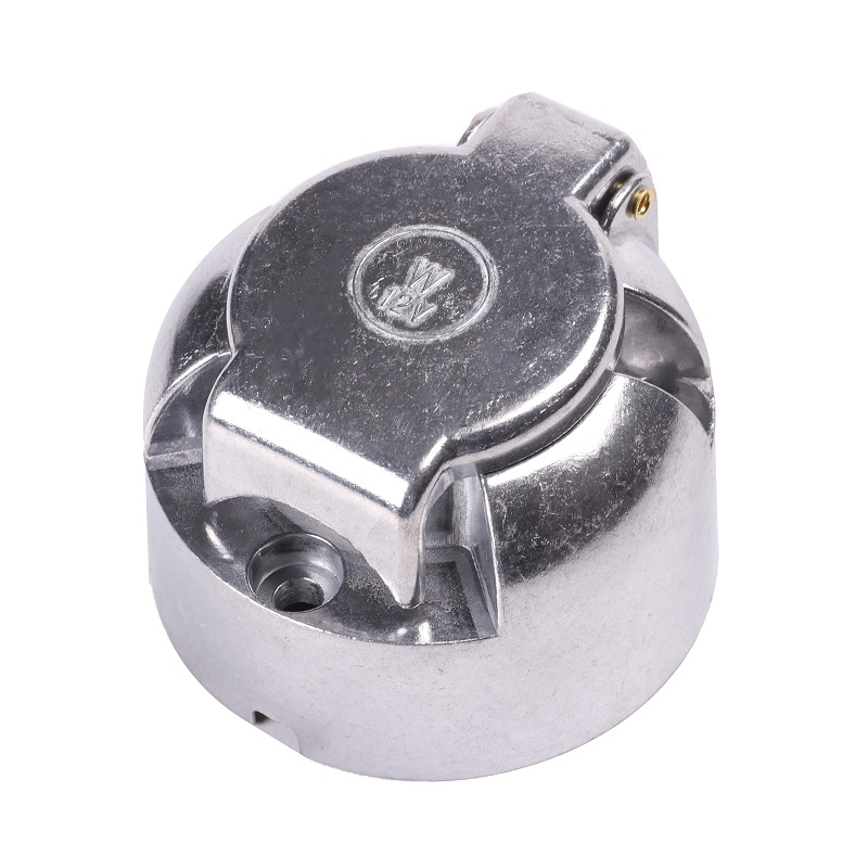 Image 2 - 12vTrailer female Socket 7 Pin Type camp towing adapter  male plug Car Accessories 7 Way aluminum Metal Connector truck  lorry-in Trailer Couplings & Accessories from Automobiles & Motorcycles