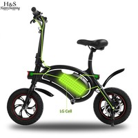 Ancheer 36V 4 4AH Electric Bike With GPS Foldable Black Electric Bike Portable Electric Bicycle 20KM
