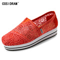 New 2017 Summer Shoes Breathable Casual Women Flats Lace Platform Women Flat Shoes Female Fashion Loafers Hollow Outs SNE-758