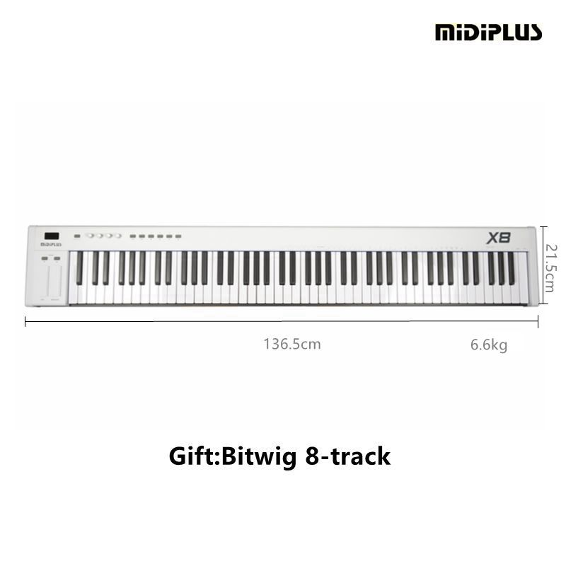 midiplus x8 2018 88key with semi weighted keys usb midi keyboard controller and. Black Bedroom Furniture Sets. Home Design Ideas