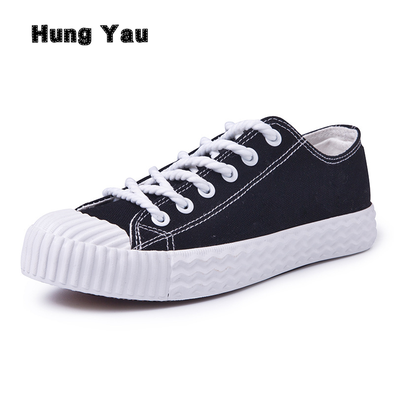 Hung Yau Women Shoes Flats Loafers Casual Breathable Women Flats Lace-Up Fashion 2018 Canvas Flats Shoes Women Low Shallow 2017 patchwork lace up rubber sole canvas shoes breathable super leisure women casual shoes with flats student shoes rm 05