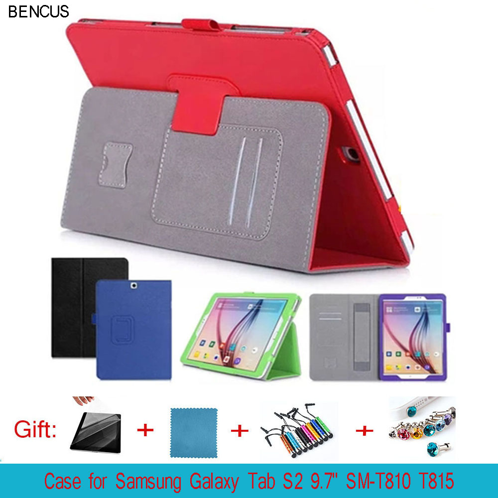 BENCUS Quality Case Cover for Samsung SM-T815 Case, PU Leather Case Cover For 9.7 Samsung Galaxy Tab S2 9.7 SM-T810 SM-T815