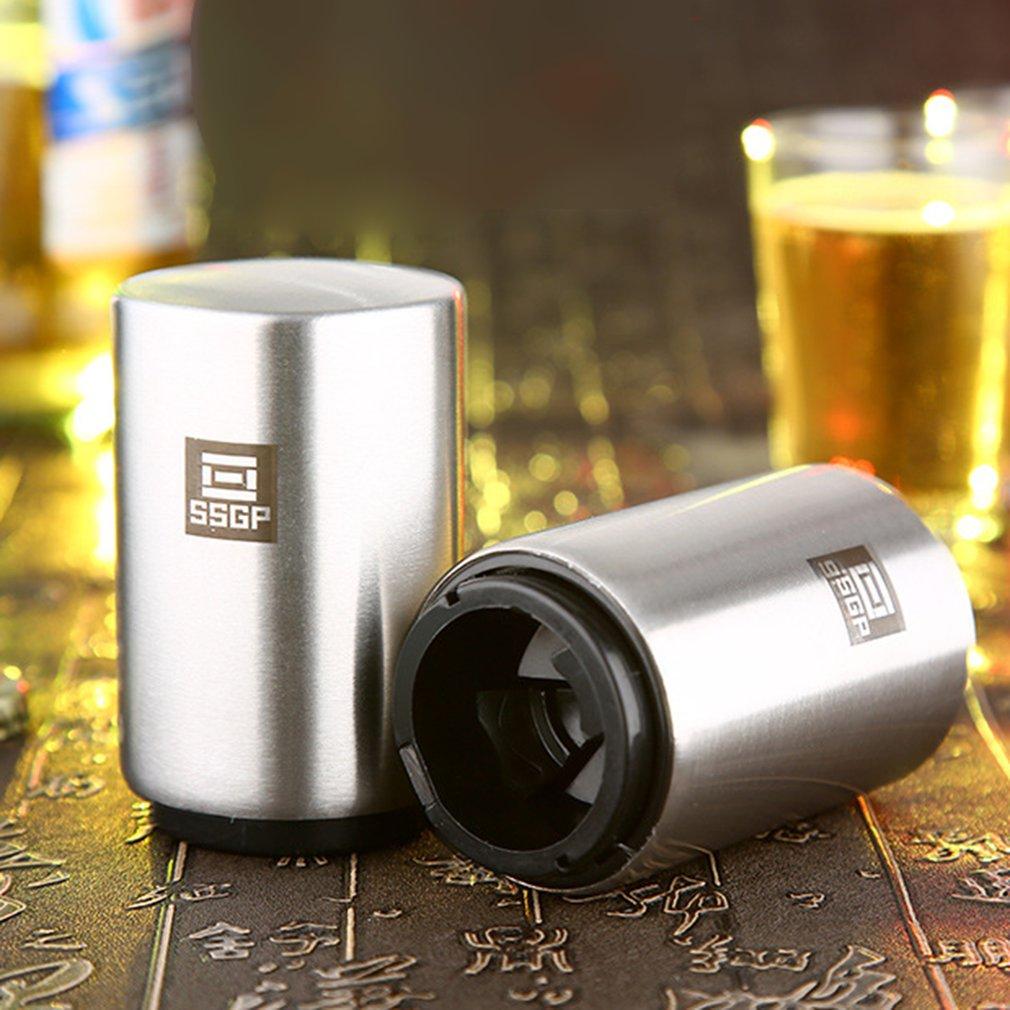 Creative Automatic Beer Bottle Opener Stainless Steel Wine Beer Soda Glass Cap Bottle Opener Portable Bar Accessories