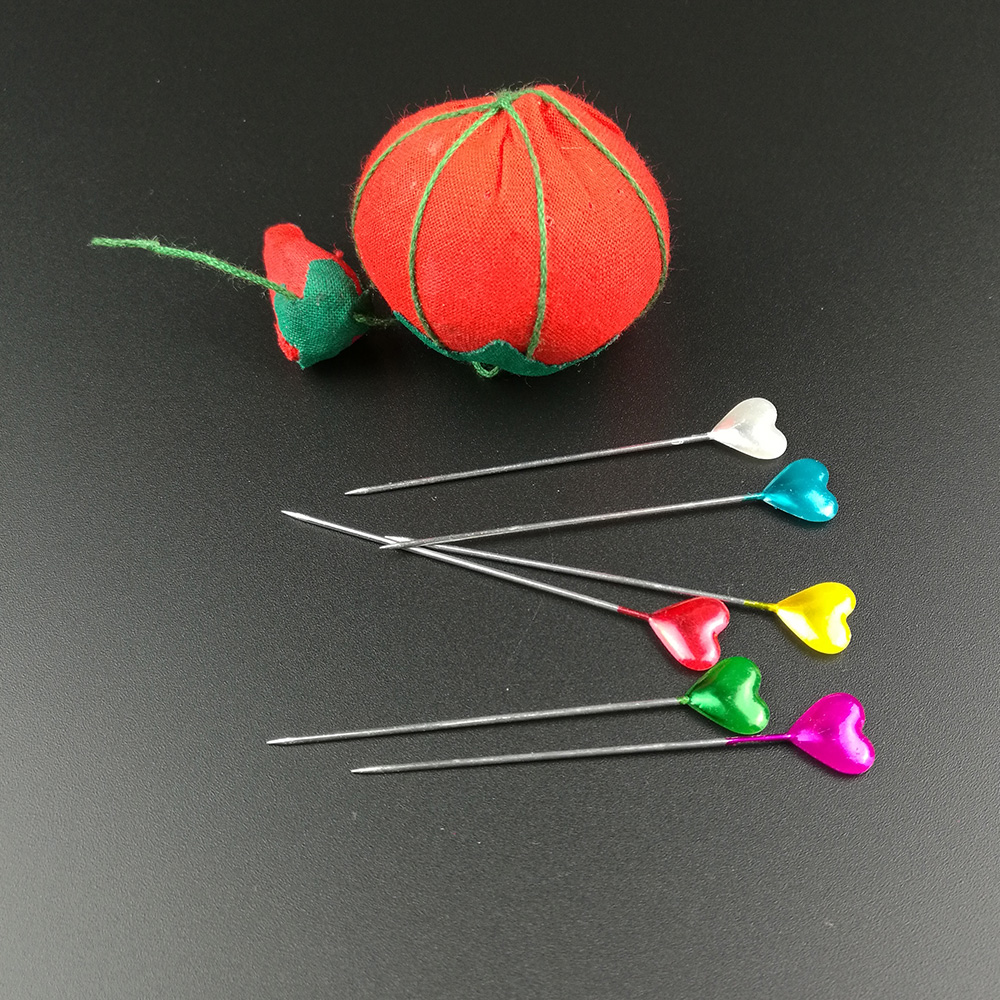 Wholesale 120Pcs Dressmaking Pin Heart Pearl Wedding Dress Decor Sewing Craft