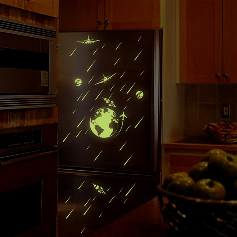 Cosmic Meteor Shower Noctilucent Wall Sticker Living Room Home Decorations Bedroom Stickers Vinyl Wall Stickers For kids Rooms